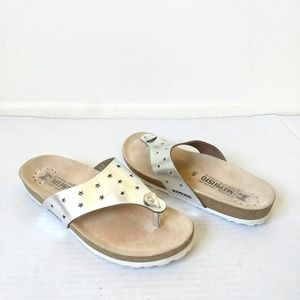 Mephisto thong sandals silver Nikie Star